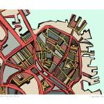 """North End 11x14 w border w sig and location"" by carlandcartography"