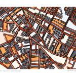 """Porter Square 11x14 w border w sig and location"" by carlandcartography"