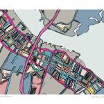 """Newburyport 11x14 w border w sig and location"" by carlandcartography"