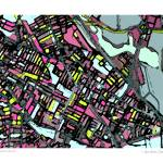 """Somerville Blk11x14 w border w sig and location"" by carlandcartography"