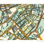"""South End Boston 11x14 w border w sig and loc"" by carlandcartography"