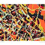 """Somerville Red 11x14 w border w sig and location"" by carlandcartography"