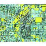 """Denver 16x20 w border"" by carlandcartography"