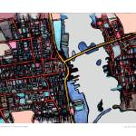 """""""New Bedford MERGED 16x20 w sig and loc"""" by carlandcartography"""