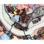 """Monaca 16x20 w sig and loc"" by carlandcartography"