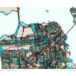 """San Fran 16x20 sig and loc"" by carlandcartography"