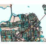 """San Fran 16x20 sig and loc"" by carlandcartography"