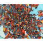 """San Antonio 16x20 w sig and loc"" by carlandcartography"