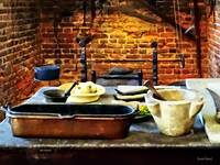 Mortar and Pestles in Colonial Kitchen