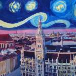 """Starry_Night_In_Munich - Van Gogh Inspirations"" by arthop77"