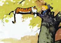 Calvin & Hobbes Water Colour Art Print