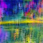 """Nubanusit Lake Abstrat"" by bavosiphotoart"