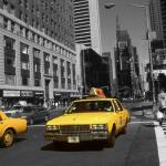 """Broadway Taxi Cabs - New York Highlight Photo Art"" by Art-America"