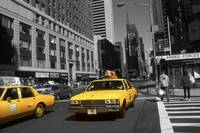 Broadway Taxi Cabs - New York Highlight Photo Art