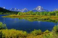 Lake and Teton Mountains