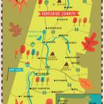 """Illustrated Map of the Berkshires by Nate Padavick"" by TheyDrawandCook"