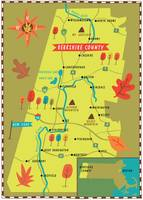 Illustrated Map of the Berkshires by Nate Padavick