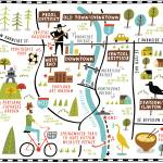 """Illustrated Map of Portland by Nate Padavick"" by TheyDrawandCook"