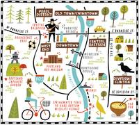 Illustrated Map of Portland by Nate Padavick by They Draw & Cook & Travel