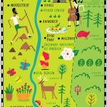 """Illustrated Map of Hudson Valley by Nate Padavick"" by TheyDrawandCook"