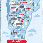 """Illustrated Map of Vermont by Nate Padavick-"" by TheyDrawandCook"