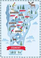 Illustrated Map of Vermont by Nate Padavick-