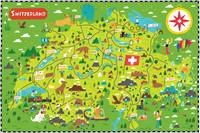 Illustrated Map of Switzerland by Nate Padavick