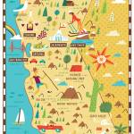 """Illustrated Map of California by Nate Padavick"" by TheyDrawandCook"