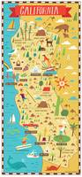 Illustrated Map of California by Nate Padavick by They Draw & Cook & Travel