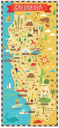 Illustrated Map of California by Nate Padavick