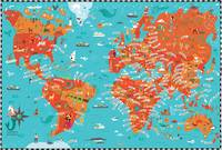 Illustrated Map of the World by Nate Padavick by They Draw & Cook & Travel