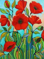 Red Poppy Abstract