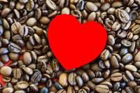 Coffee Beans with heart