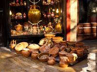 Pottery in the Bazaar