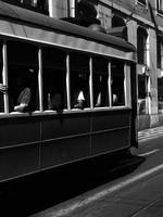 Tramway in Lisbon BW