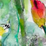 """Abstract Floral Blossom Bud Watercolor"" by GinetteCallaway"