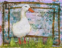 Mixed Media | Collage | Duck Art | Imperial Duck