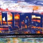 """""""The City - NYC Twin Towers commemorative art"""" by galina"""