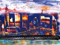 The City - NYC Twin Towers commemorative art