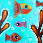 """Quilted Fish"" by ArtPrints"
