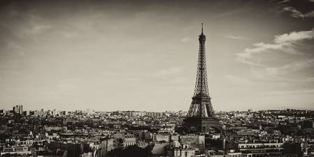 View of Paris BW