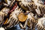 """Marinated Fresh Crabs At The Market by James """"BO"""" Insogna"""