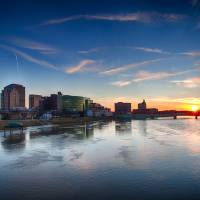 Dayton March Sunset by Jim Crotty Art Prints & Posters by Jim Crotty