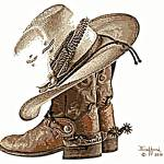 """Boots, Hat & Spurs"" by davegafford"