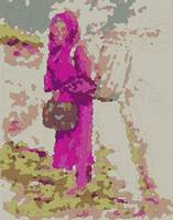 Bundled and Barefoot -- Fuchsia