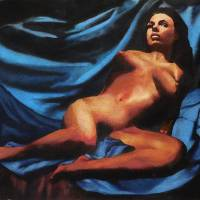 Fine Art Nude Multimedia Painting Tanya Sitting Re Art Prints & Posters by g. linsenmayer