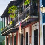 """Old San Juan Street in Atmospheric Light"" by George_Oze"