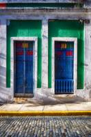 Colorful House Doors, Old San Juan, Puerto Rico