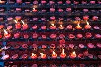 Burning Candles of Santa Nino Basilica