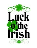 Luck of the Irish with White Background